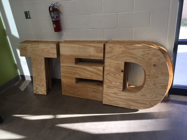 TEDx Wood Lettering